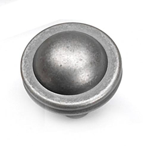 Laurey L-23806 Kama Antique Pewter Round Knob - KnobDepot.com
