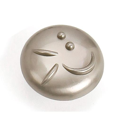 Laurey L-37228 Graffiti Satin Nickel Round Knob - Knob Depot