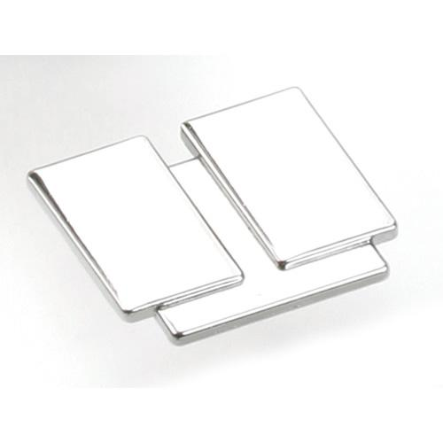 Laurey L-38026 Division Polished Chrome Rectangular Knob - KnobDepot.com