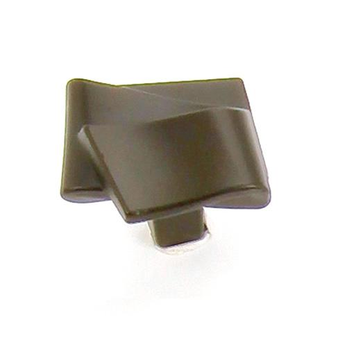 Laurey L-38466 Diva Oil Rubbed Bronze Square Knob - Knob Depot