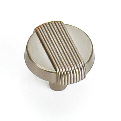 Laurey L-39028 Wired Satin Nickel Round Knob - Knob Depot