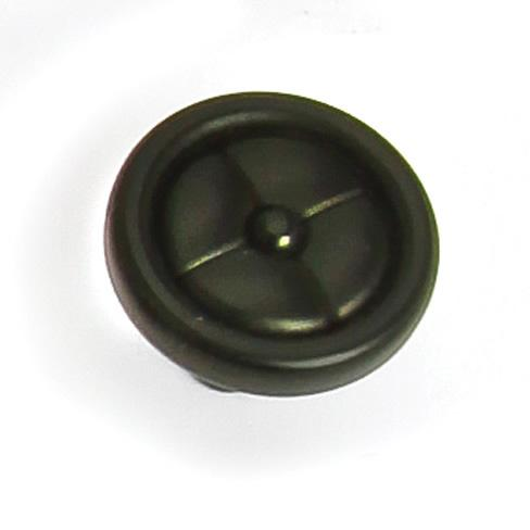 Laurey L-39620 Paris Iron Black Round Knob - Knob Depot