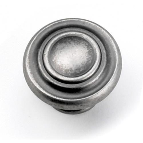 Laurey L-51806 Windsor Antique Pewter Round Knob - Knob Depot