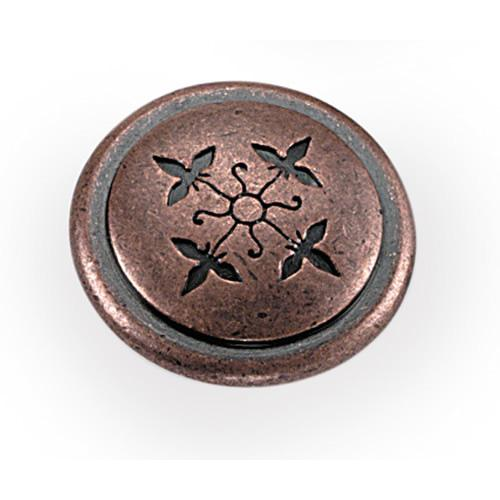 Laurey L-53007 Cimarron Antique Copper Round Knob - KnobDepot.com