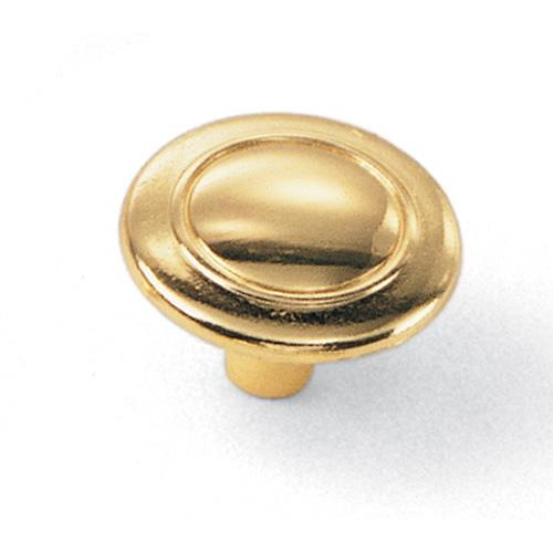 Laurey L-55637 Classic Traditions Polished Brass Round Knob - Knob Depot