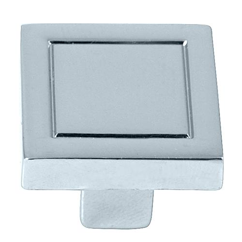 Laurey L-72826 Cosmo Polished Chrome Square Knob - KnobDepot.com