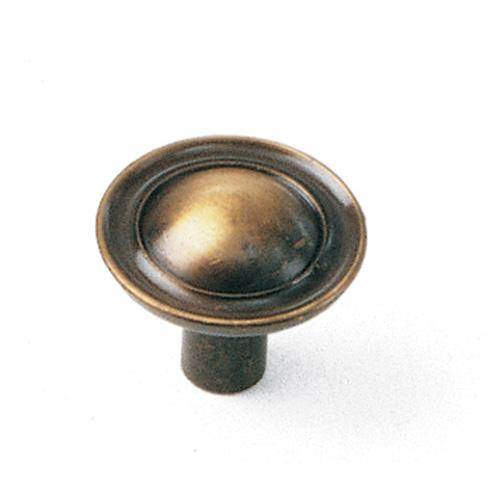 Laurey L-75505 Classic Traditions Antique Brass Round Knob - Knob Depot