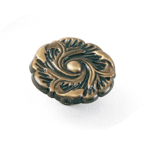 Laurey L-76505 Classic Traditions Antique Brass Round Knob - Knob Depot
