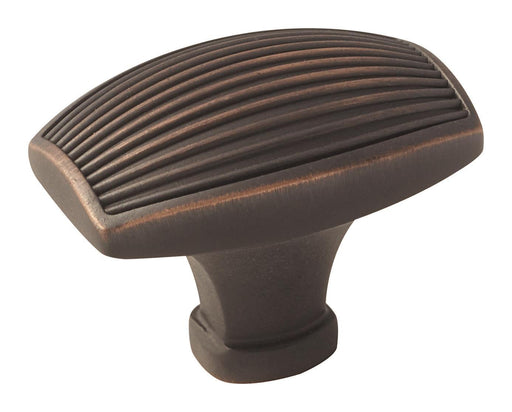 Amerock A-BP36614ORB Sea Grass  Oil-Rubbed Bronze Rectangular Knob - KnobDepot.com