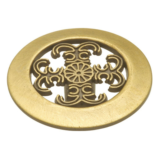 Hickory Hardware H-P117-AB Traditional/Cavalier Antique Brass Round Knob - Knob Depot