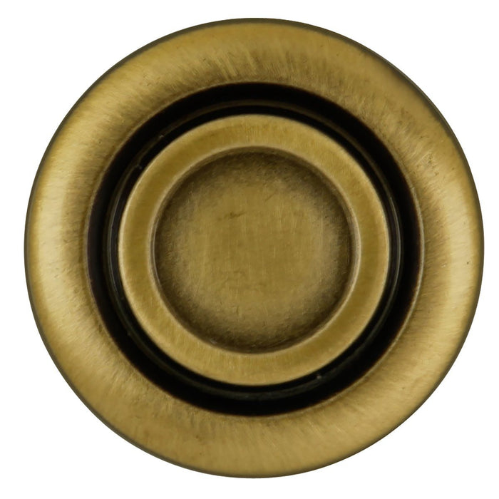 Hickory Hardware H-P121-AB Traditional/Cavalier Antique Brass Round Knob - Knob Depot