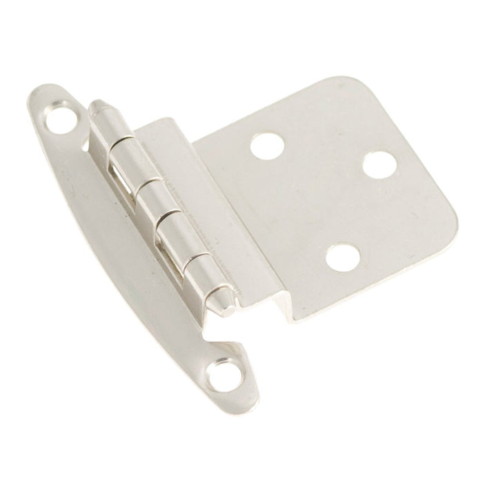 Hickory Hardware H-P140-SN Functional/Surface Mount Satin Nickel Hinge - Knob Depot