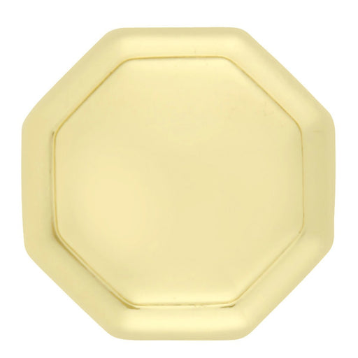 Hickory Hardware H-P14004-3 Contemporary/Conquest Polished Brass Octagon Knob - Knob Depot