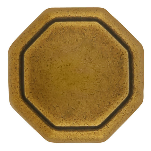 Hickory Hardware H-P14004-LB Contemporary/Conquest Lustre Brass Octagon Knob - KnobDepot.com