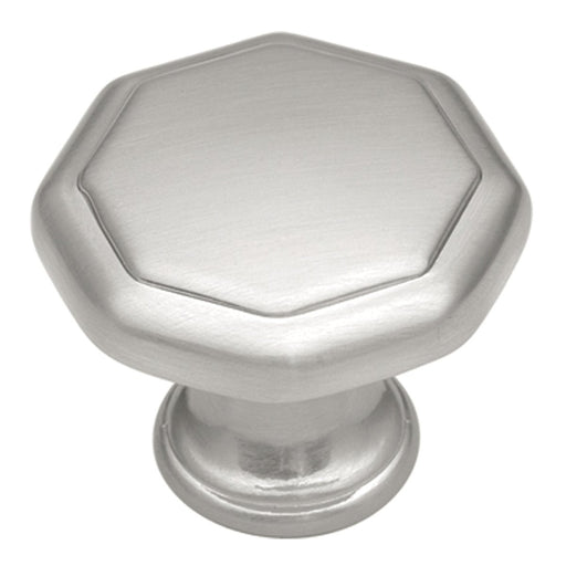 Hickory Hardware H-P14004-SN Contemporary/Conquest Satin Nickel Octagon Knob - Knob Depot