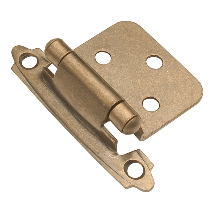 Hickory Hardware H-P144-AB Functional/Surface Self-Closing Antique Brass Hinge - Knob Depot