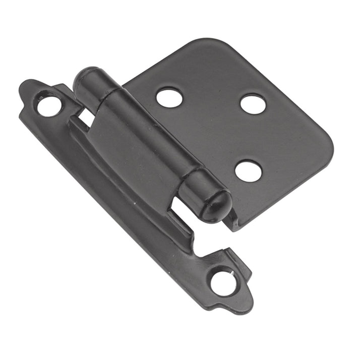 Hickory Hardware H-P144-BL Functional/Surface Self-Closing Black Hinge - Knob Depot