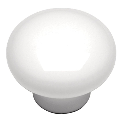Hickory Hardware H-P14630-W Contemporary/Conquest White Round Knob - KnobDepot.com