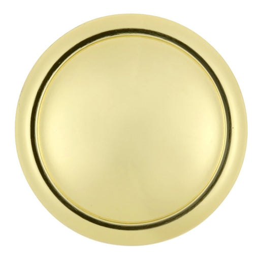 Hickory Hardware H-P14848-3 Contemporary/Conquest Polished Brass Round Knob - Knob Depot