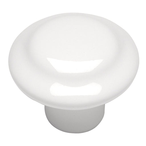 Hickory Hardware H-P14848-W Contemporary/Conquest White Round Knob - KnobDepot.com