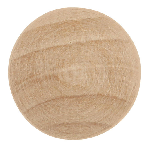 Hickory Hardware H-P183-UW Traditional/Natural Woodcraft Unfinished Wood Round Knob - KnobDepot.com