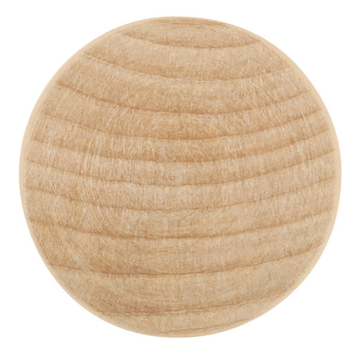 Hickory Hardware H-P184-UW Traditional/Natural Woodcraft Unfinished Wood Round Knob - KnobDepot.com