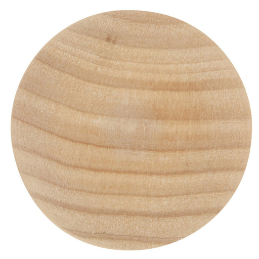 Hickory Hardware H-P186-UW Traditional/Natural Woodcraft Unfinished Wood Round Knob - KnobDepot.com