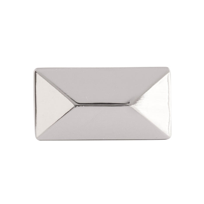 Hickory Hardware H-P2151-14 Contemporary/Bungalow Polished Nickel Rectangular Knob - Knob Depot
