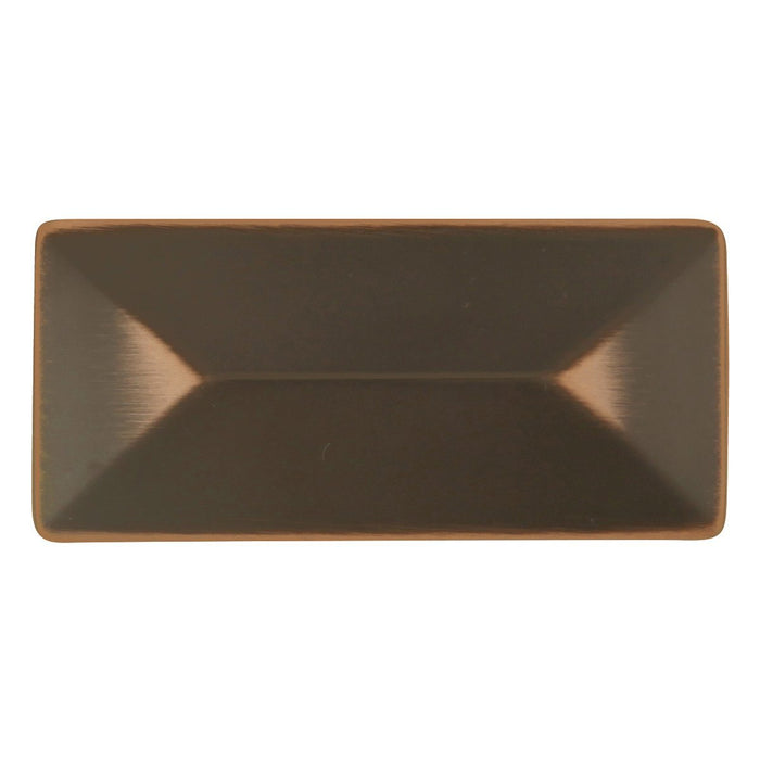 Hickory Hardware H-P2152-OBH Contemporary/Bungalow Oil Rubbed Bronze Highlighted Rectangular Knob - KnobDepot.com