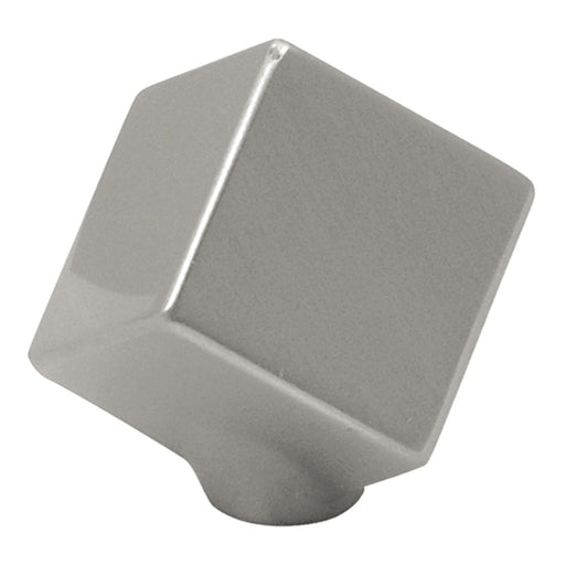 Hickory Hardware H-P2160-SN Contemporary/Euro-Contemporary Satin Nickel Cube Specialty Knob - Knob Depot