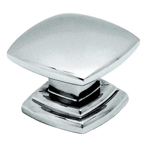 Hickory Hardware H-P2163-CH Contemporary/Euro-Contemporary Chrome Square Knob - KnobDepot.com