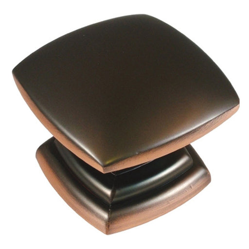 Hickory Hardware H-P2163-OBH Contemporary/Euro-Contemporary Oil Rubbed Bronze Highlighted Square Knob - KnobDepot.com