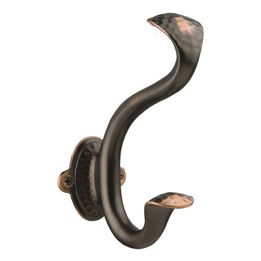 Hickory Hardware H-P2175-OBH Functional/Craftsman Oil Rubbed Bronze Highlighted Hook - KnobDepot.com