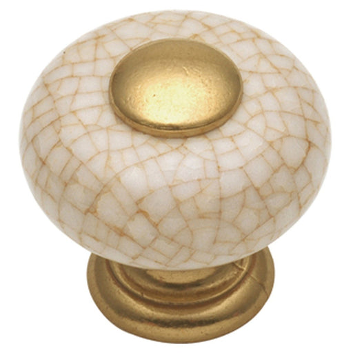 Hickory Hardware H-P221-VC Traditional/Tranquility Vintage Brown Crackle Round Knob - Knob Depot