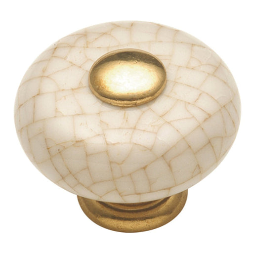 Hickory Hardware H-P222-VC Traditional/Tranquility Vintage Brown Crackle Round Knob - KnobDepot.com