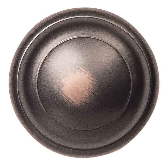 Hickory Hardware H-P2283-OBH Contemporary/Zephyr Oil Rubbed Bronze Highlighted Round Knob - KnobDepot.com