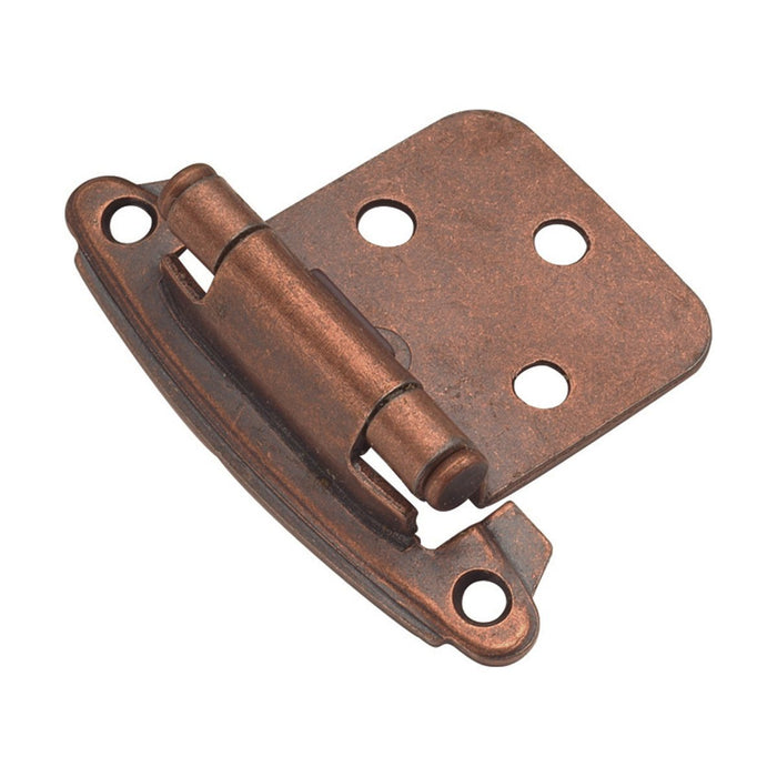 Hickory Hardware H-P244-AC Functional/Surface Self-Closing Antique Copper Hinge - KnobDepot.com