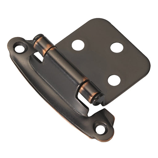Hickory Hardware H-P244-OBH Functional/Surface Self-Closing Oil Rubbed Bronze Highlighted Hinge