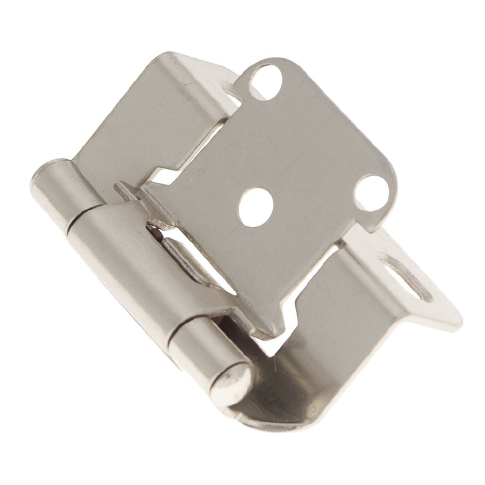 Hickory Hardware H-P2710F-SN Functional/Self-Closing Semi-Concealed Satin Nickel Hinge - KnobDepot.com