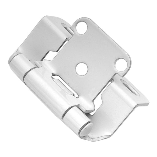 Hickory Hardware H-P2710F-W2 Functional/Self-Closing Semi-Concealed White Power Coat Hinge