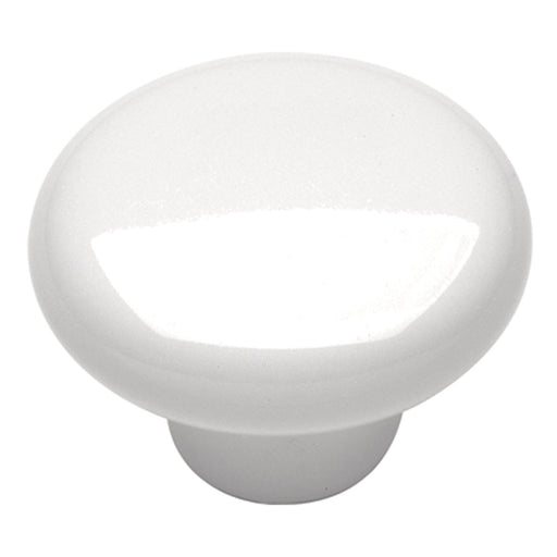 Hickory Hardware H-P28-W Casual/English Cozy White Round Knob - KnobDepot.com