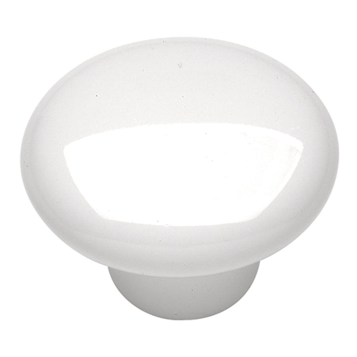Hickory Hardware H-P29-W Casual/English Cozy White Round Knob