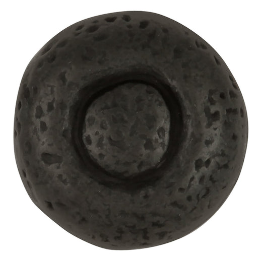 Hickory Hardware H-P3003-BI Casual/Refined Rustic Black Iron Round Knob - Knob Depot