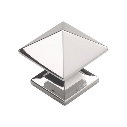 Hickory Hardware H-P3014-14 Contemporary/Studio Bright Nickel Pyramid Square Knob - Knob Depot