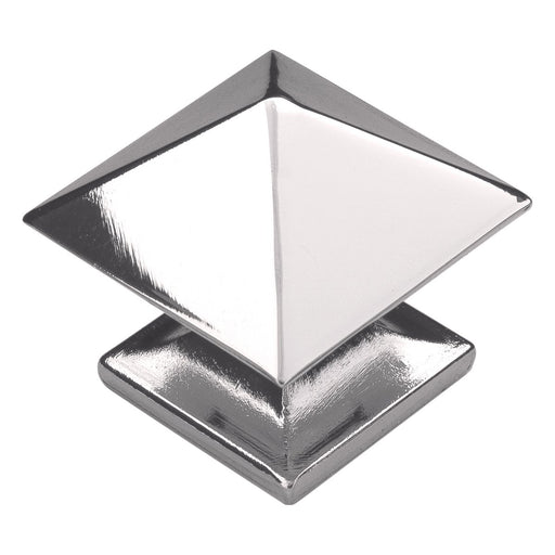 Hickory Hardware H-P3015-14 Contemporary/Studio Bright Nickel Pyramid Square Knob - Knob Depot