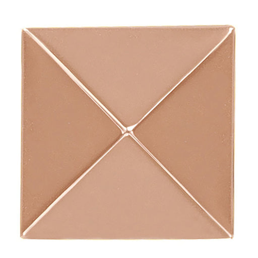 Hickory Hardware H-P3015-CP Contemporary/Studio Polished Copper Pyramid Square Knob - Knob Depot