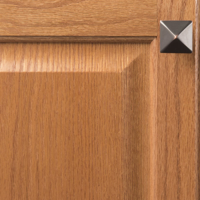 Hickory Hardware H-P3015-OBH Contemporary/Studio Oil Rubbed Bronze Highlighted Pyramid Square Knob - Knob Depot