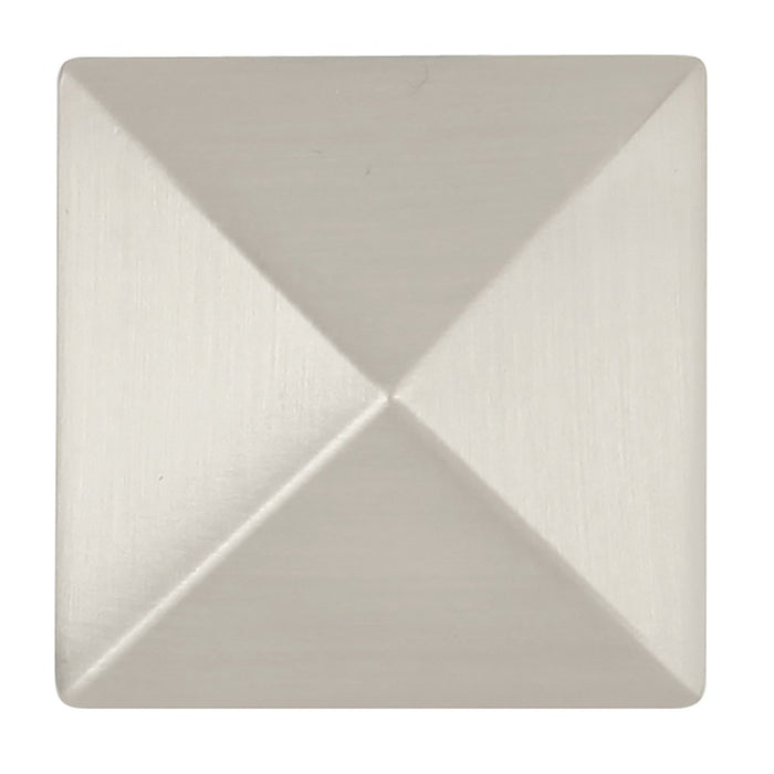 Hickory Hardware H-P3015-SN Contemporary/Studio Satin Nickel Pyramid Square Knob - KnobDepot.com