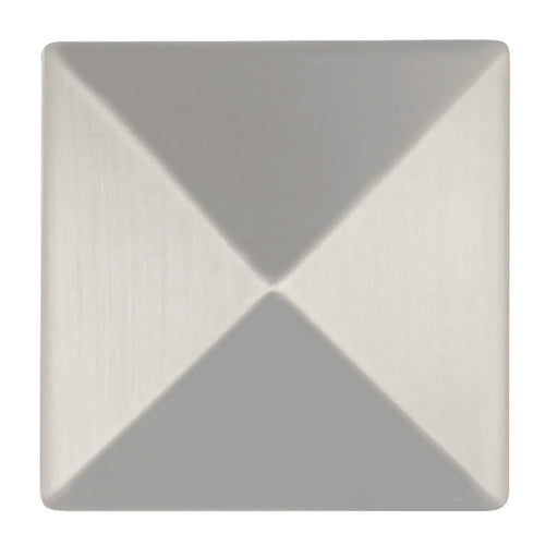 Hickory Hardware H-P3015-SS Contemporary/Studio Stainless Steel Pyramid Square Knob - Knob Depot