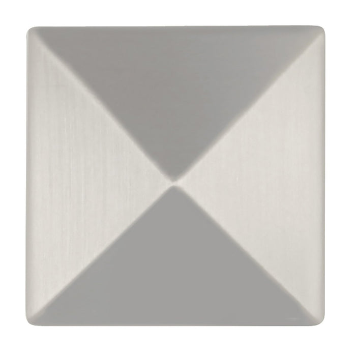 Hickory Hardware H-P3015-SS Contemporary/Studio Stainless Steel Pyramid Square Knob - KnobDepot.com